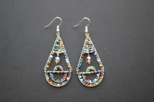 Earrings - Austrian Crystal Mutli-Color Teardrop