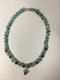 Necklace - Austrian Crystal Blue and White