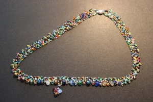 Necklace - Austrian Crystal Braided Mutli-Color